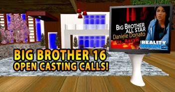 Big Brother 16 Casting Calls