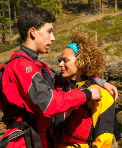 Cormac comforts Nicole at the Pit Stop of The Amazing Race Canada 2