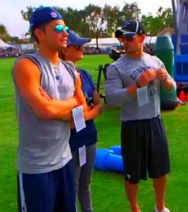 Christine Brecht, Caleb Reynolds and Frankie Grande get to see the Dallas Cowboys Training camp on Big Brother 16 episode 23