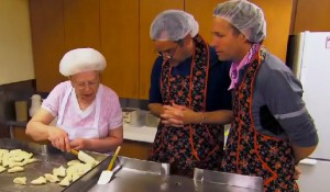 Rex Harrington and Bob ask the Pierogi Poobah if they past the test on Amazing Race Canada 2 episode 6