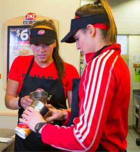 Natalie Spooner and Meaghan Mikkelson make blizzards on Amazing Race Canada2 episode 11