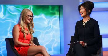 Nicole Franzel Talks to Julie Chen outside the Big Brother house on Big Brother 16 episode 32