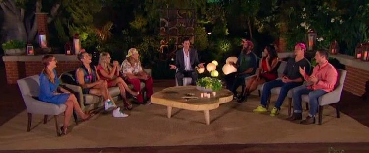 The Jury deliberates with Dr Will Kirby as moderator on the Big Brother 16 Finale