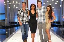 Cody Calafiore, Derrick Levasseur, Victoria Raffaeli and Julie Chen at the Finale of Big Brother 16