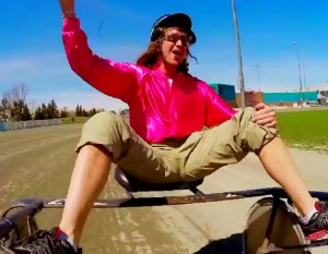 Pete Schmalz gets a ride from Mickey Henry on Amazing Race Canada 2 episode 10