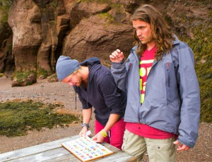 Mickey Henry and Pete Schmalz memorize signal flags on Amazing Race Canada 2 episode 11