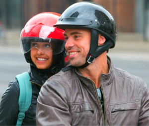 Tim Warmels and April Brockman go on a motorcylcle tour of Toronto on The Bachelor Canada 2 episode 5