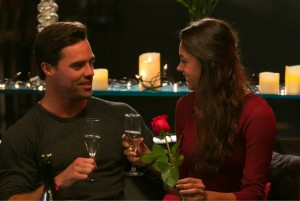 Tim Warmels offers April Brockman a rose and of course she accepts on The Bachelor Canada 2 episode 5