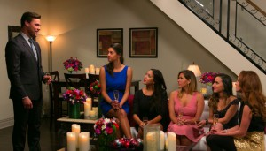 Tim Warmels tells the girls that Natalie will be at the rose ceremony on The Bachelor Canada episode 5