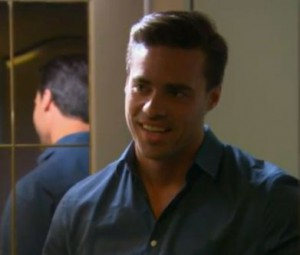 Tim Warmels looks terrified at the return of Natalie on The Bachelor Canada 2 episode 5