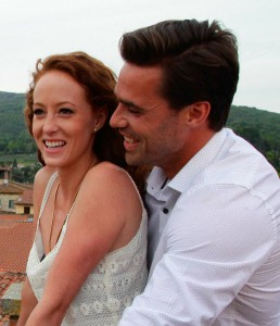 Tim Warmels and Lisa Racz enjoy the Tuscan view on The Bachelor Canada 2 episode 6