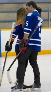 Tim Warmels and Trish Vergo sneak an on ice kiss on The Bachelor Canada 2 episode 7
