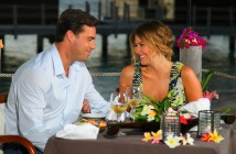 Tim Warmels and Trisha Vergo have a romantic dinner on The Bachelor Canada episode 9