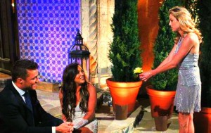Ashley Salter interupts with a  peace offering Brittany Fetkin and Chris Soules conversation on The Bachelor 19 Episode 1