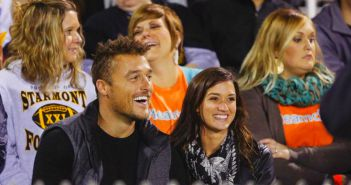 Chris Soules and Jade Roper go to a football game in Arlington , Iowa on The Bacheor 19 Episode 7