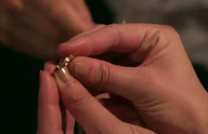 Tom Schwarz presents Katie Maloney with a Ring on a String on Vanderpump Rules
