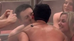 Kevin Martin and Johnny Colatruglio share their first kiss on Big Brother Canada 3 episode 4