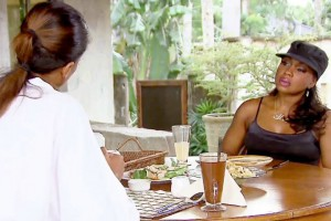 Claudia Jordan and Phaedra parts sit down and have lunch in the Philipines on RHOA Drama Detox