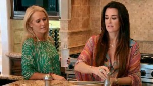 Kim Richards and Kyle Richards try to put their issues aside for one breakfast on RHOBH The Party's Over