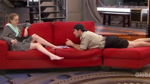 Sarah Hanlon feels out Bruno Ielo on BBCAN3 episode 9