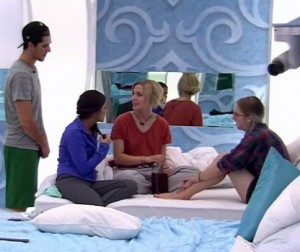 The girls keep getting interupted by the boys on BBCAN 3 episode 21