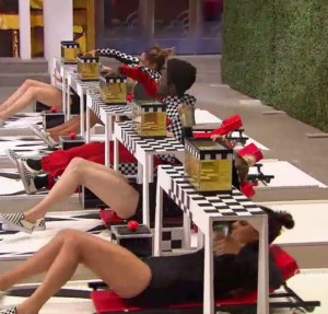 Housguests compete in Pit Stop to Veto on BBCAN3 episode 26