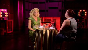 Ginger Minj with Mama Ru on RuPaul's Drag Race season 7