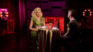 Pearl with Mama Ru on RuPaul's Drag Race season 7