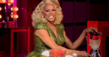 Mama Ru juices a Tic Tac in preparation for her one-on-one meals with the final 4 queens of RuPaul's Drag Race season 7.