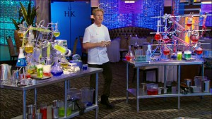Chef Ramsay introduces a challenge in which the chefs must recreate one of his signature dishes on Hell's Kitchen season 14