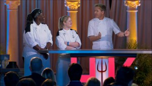 Meghan and T face off in the final challenge of Hell's Kitchen season 14