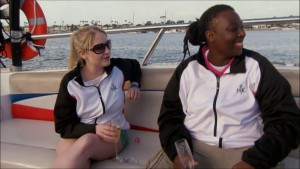 Meghan and T enjoy a day of parasailing as their reward on Hell's Kitchen season 14