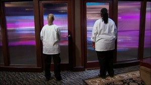 Meghan and T about to find out who wins Hell's Kitchen season 14