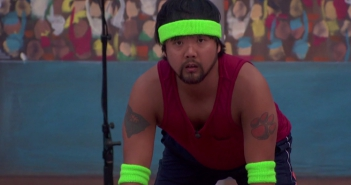 "James is focused on the ""Ready Set Whoa"" #HOH comp #BB17"