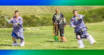 Brent Sweeney and Sean Sweeney dance through hoops for Brent's Birthday on Amazing Race Canada