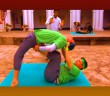 Brent Sweeney and Sean Sweeney try their hand at yoga on Amazing Race Canada 3