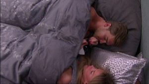 Clay and Shelli cry in bed after the veto meeting #BB17