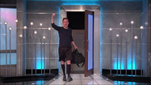 Like a boss, Johnny Mac exits the #BB17 house to loud cheers.