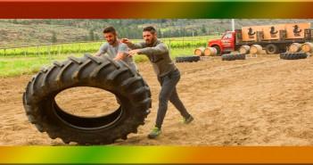 Gino Montani and Jesse Montani flip for Amazing Race Canada 3