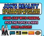 Jon's call in fan show!! Feb 8th 2016 #YRRLive