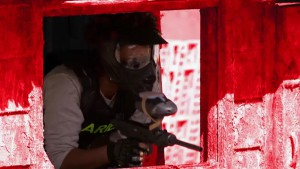 The red team enjoys a game of paintball with Marino after finally winning a challenge #HellsKitchen