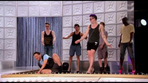Kim Chi falls on her ass during the Bitch Perfect rehearsal #DragRace