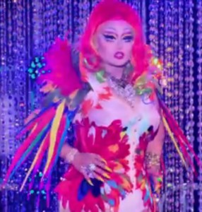 Kim Chi's look on the roller skate runway #DragRace