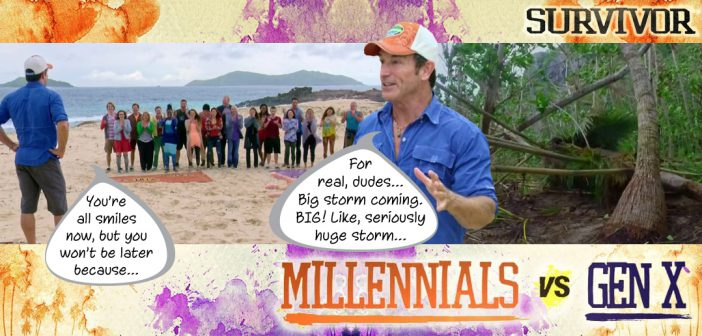 Survivor 33 Millennials vs Gen X Blog Recap Episode 1: May the Best Generation Win